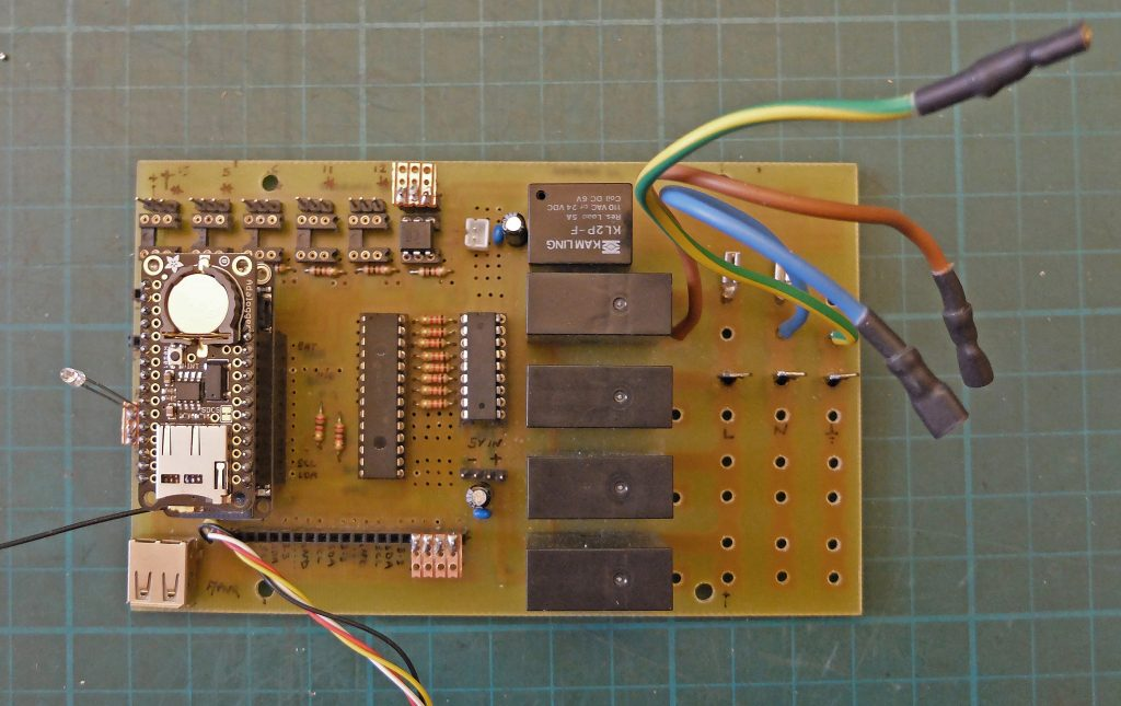 Greenhouse controller pcb top