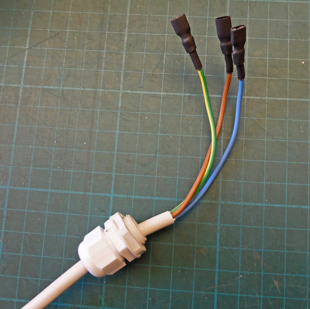 Greenhouse controller mains cable connectors