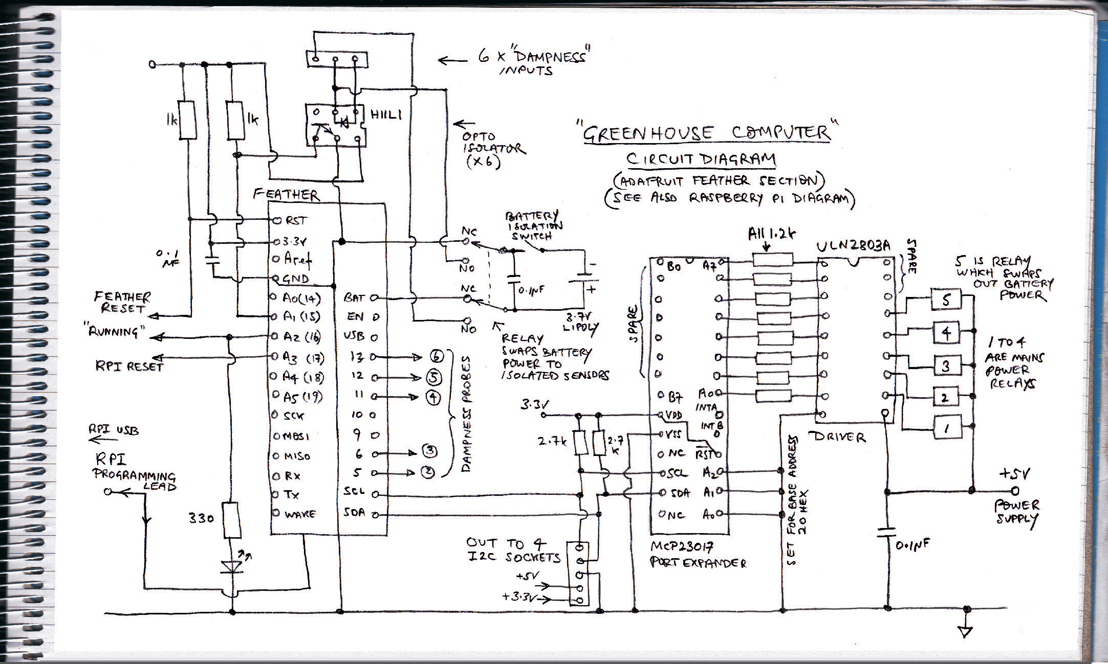 Greenhouse controller circuit diagram
