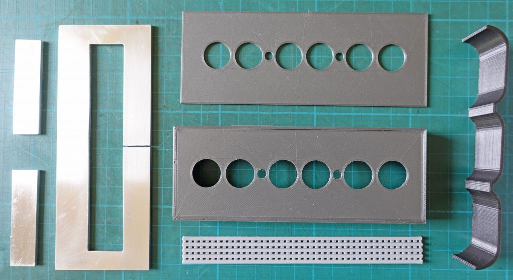 Nixie tube clock case parts