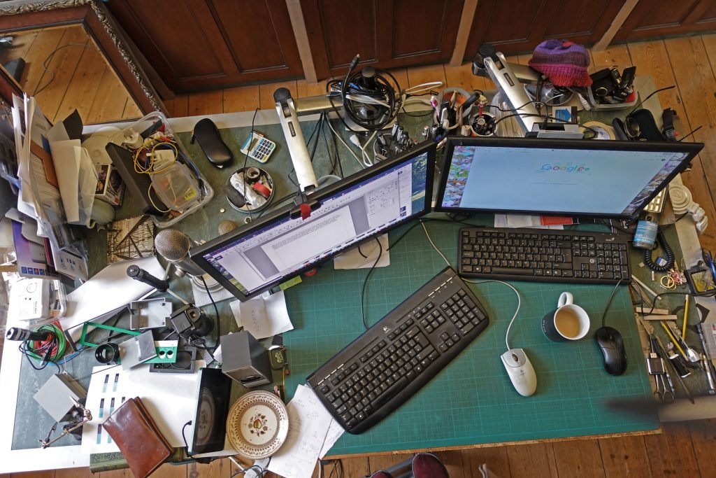 Julian Rogers' messy desk