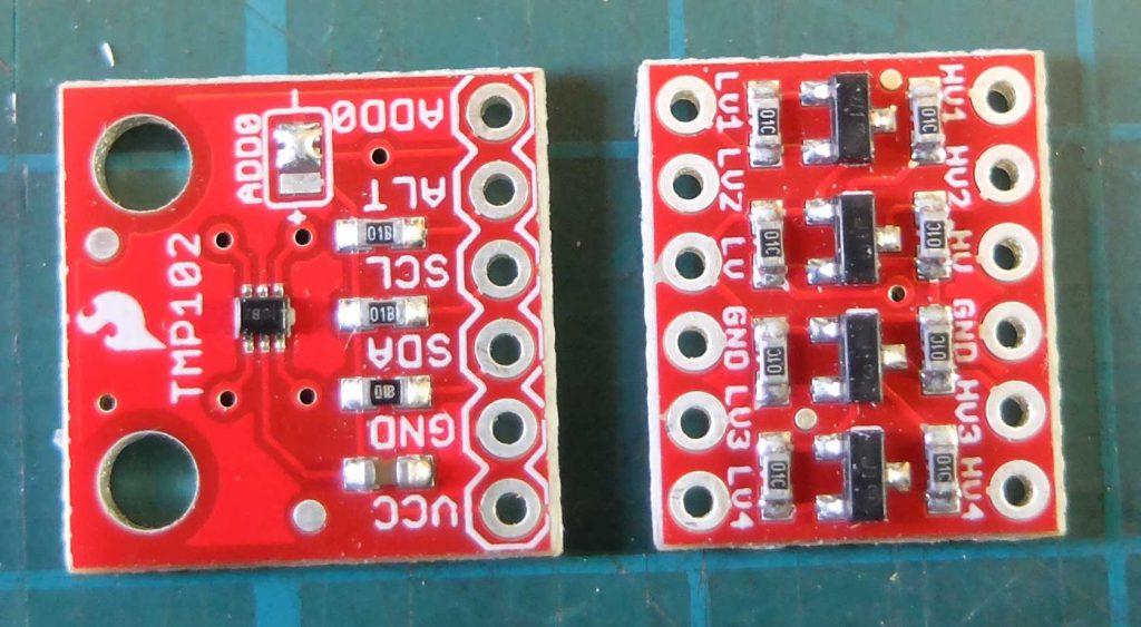 TMP102 sensor & level shifter