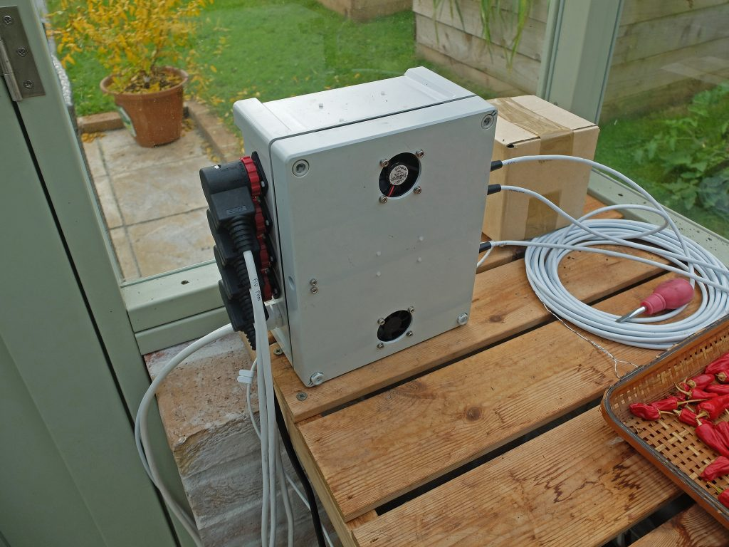 Greenhouse controller with cooling fans