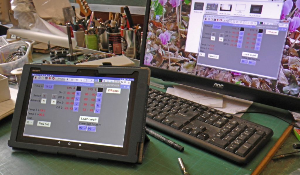 Arduino control program on PC & tablet