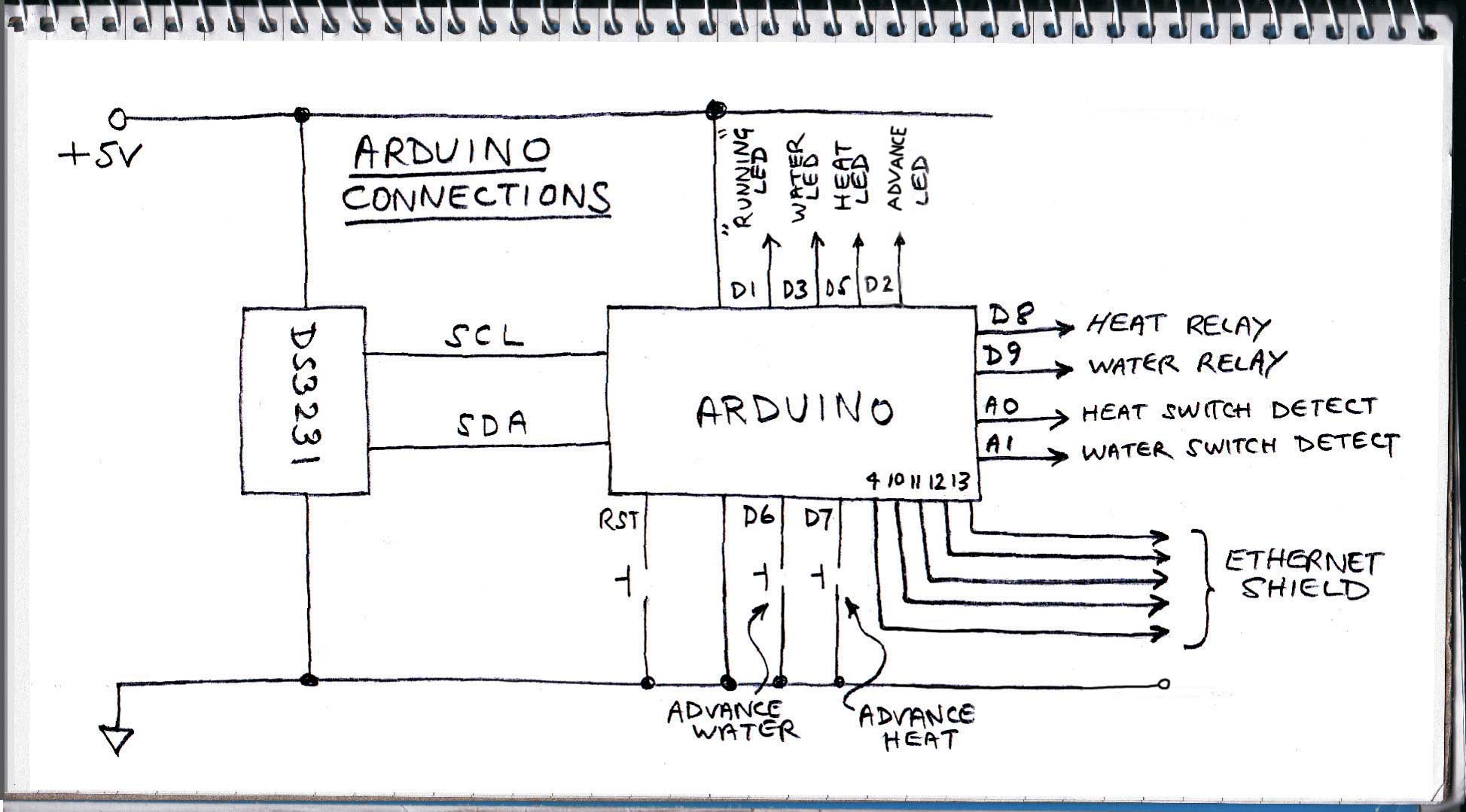 Arduino timer connections