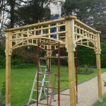 Finished pergola with Julian Rogers
