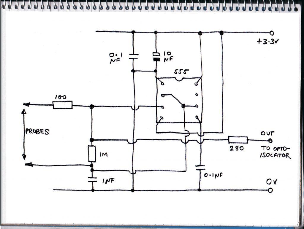 Dampness sensor circuit diagram