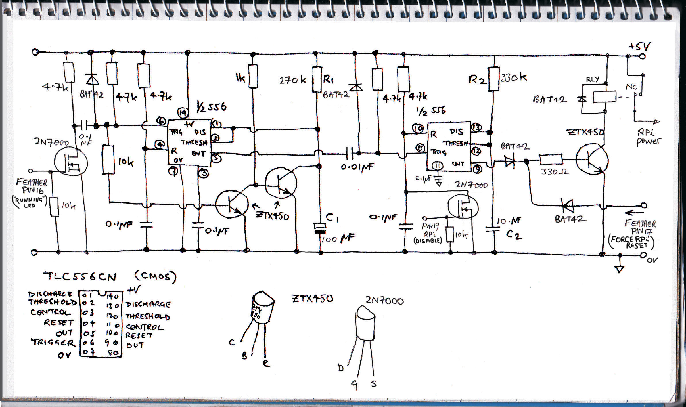 Greenhouse controller watchdog circuit diagram