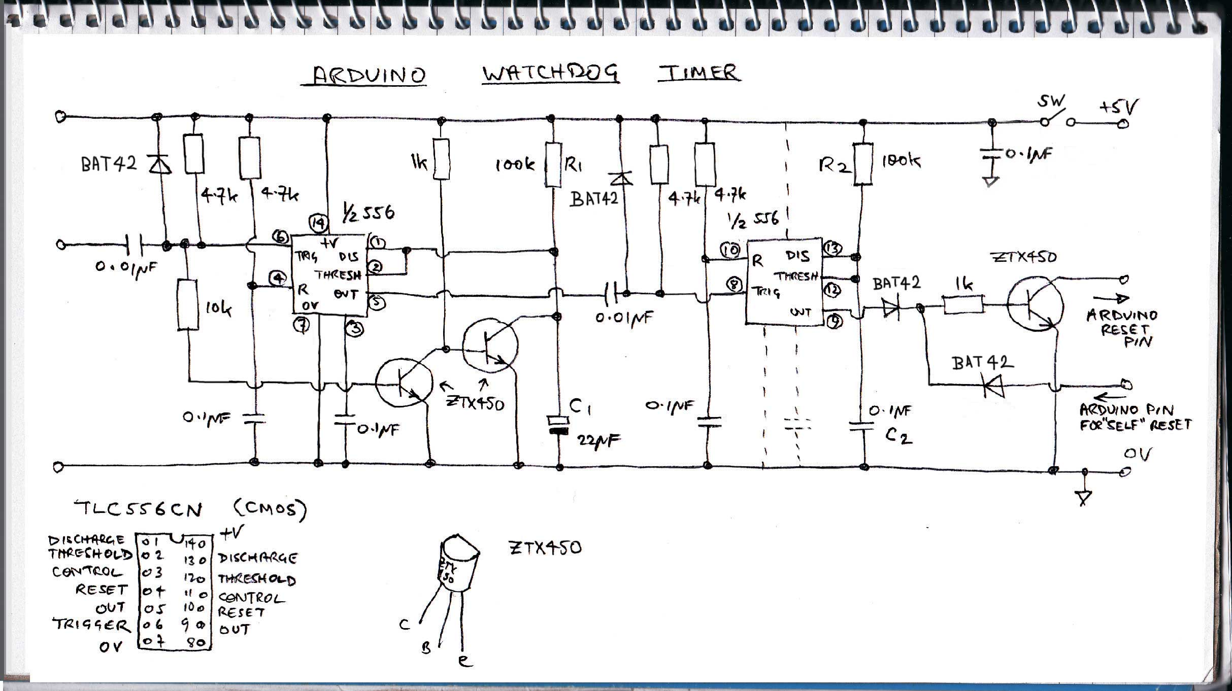 Arduino watchdog circuit