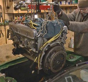 V8 lowered into Triumph TR7