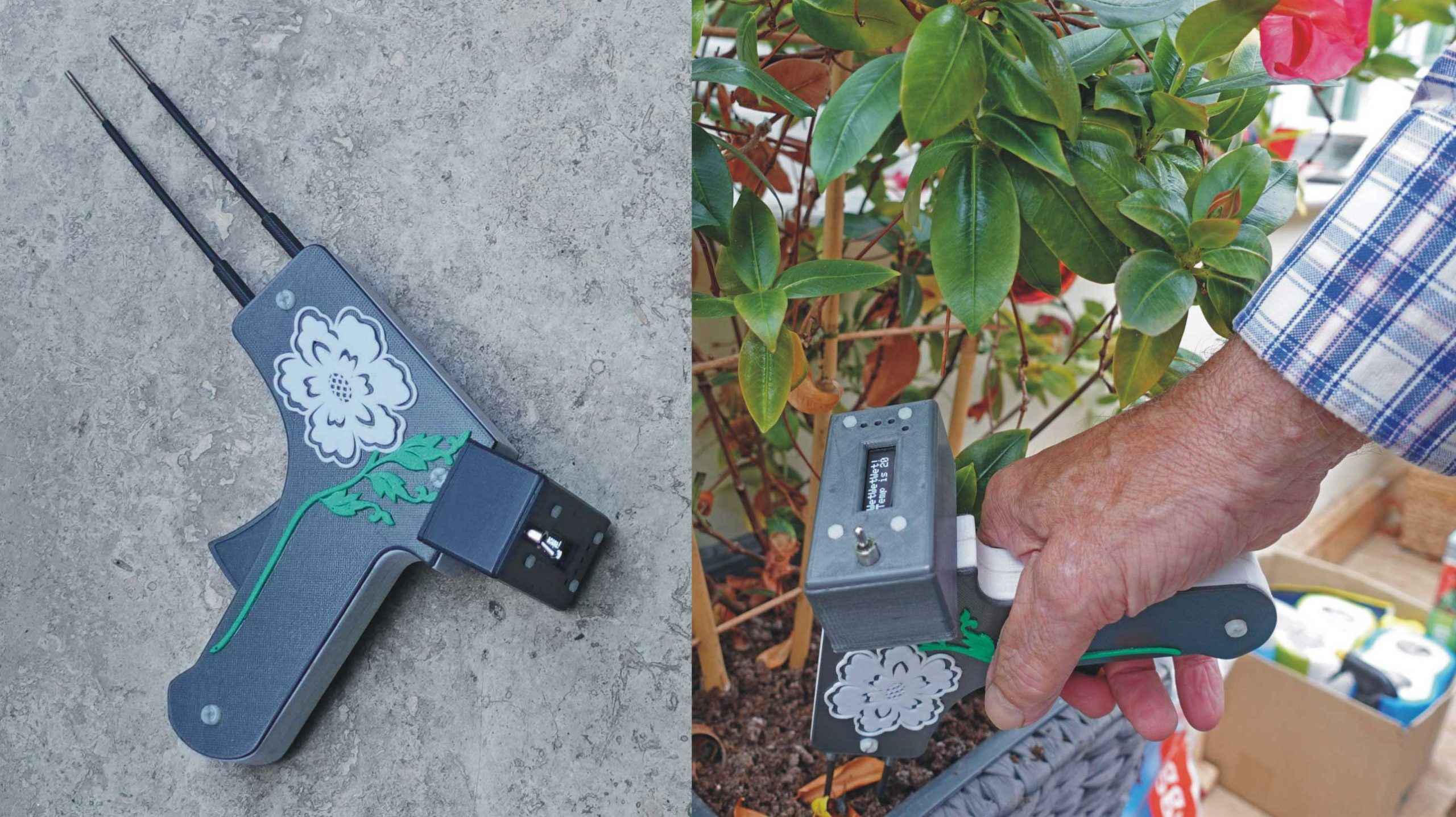 3D-printed soil dampness tester