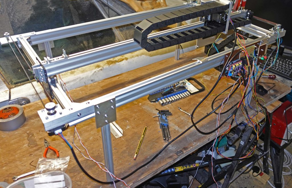 laser cutter framework legs go on