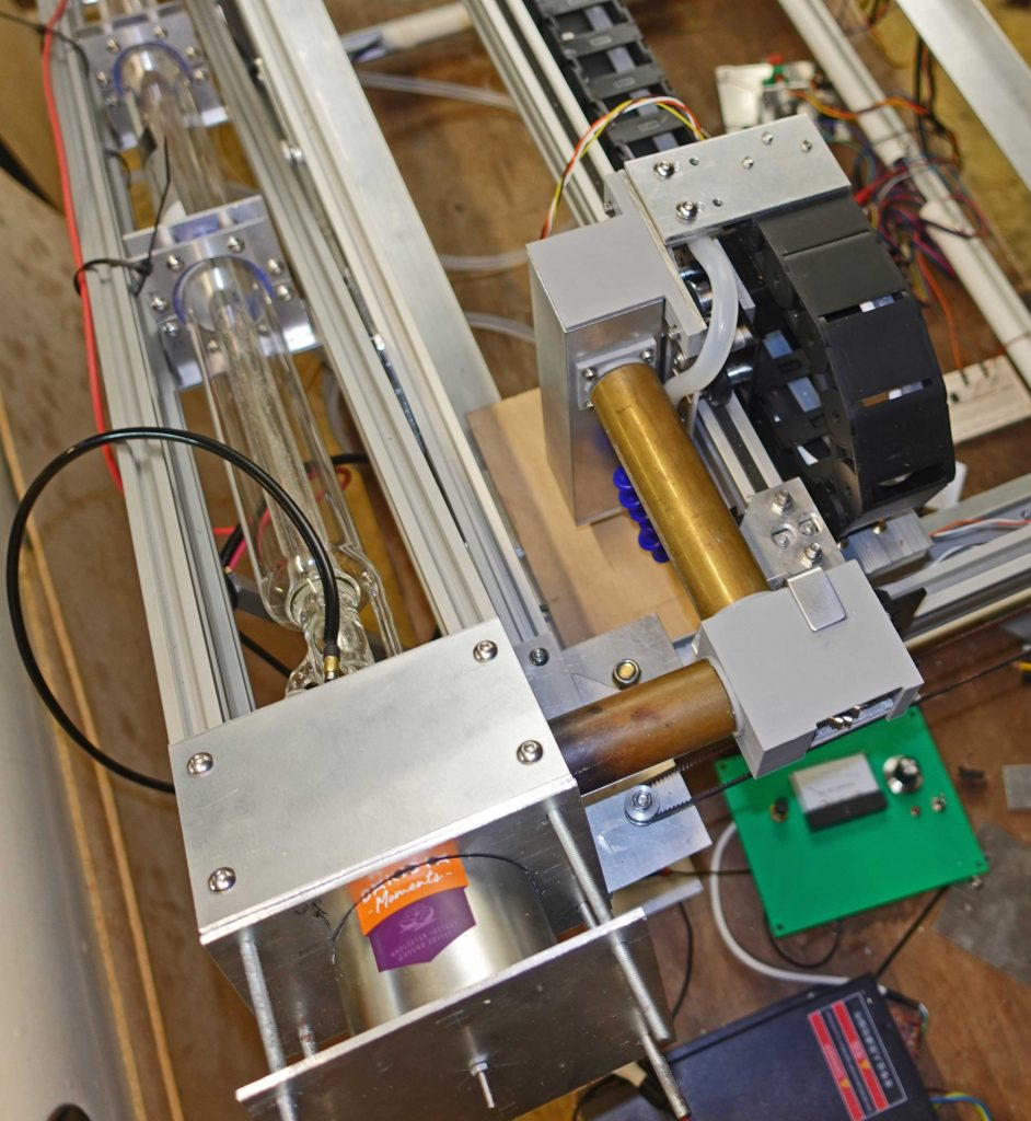 Laser test on thin plywood