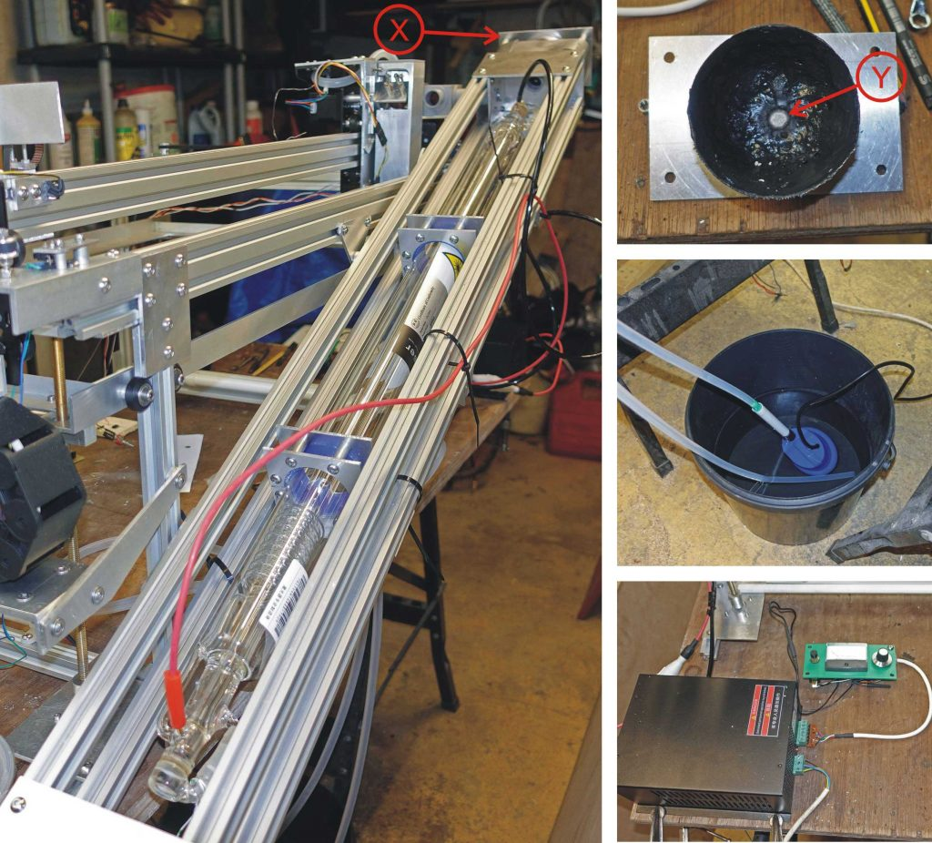 Laser cutter - testing the laser.