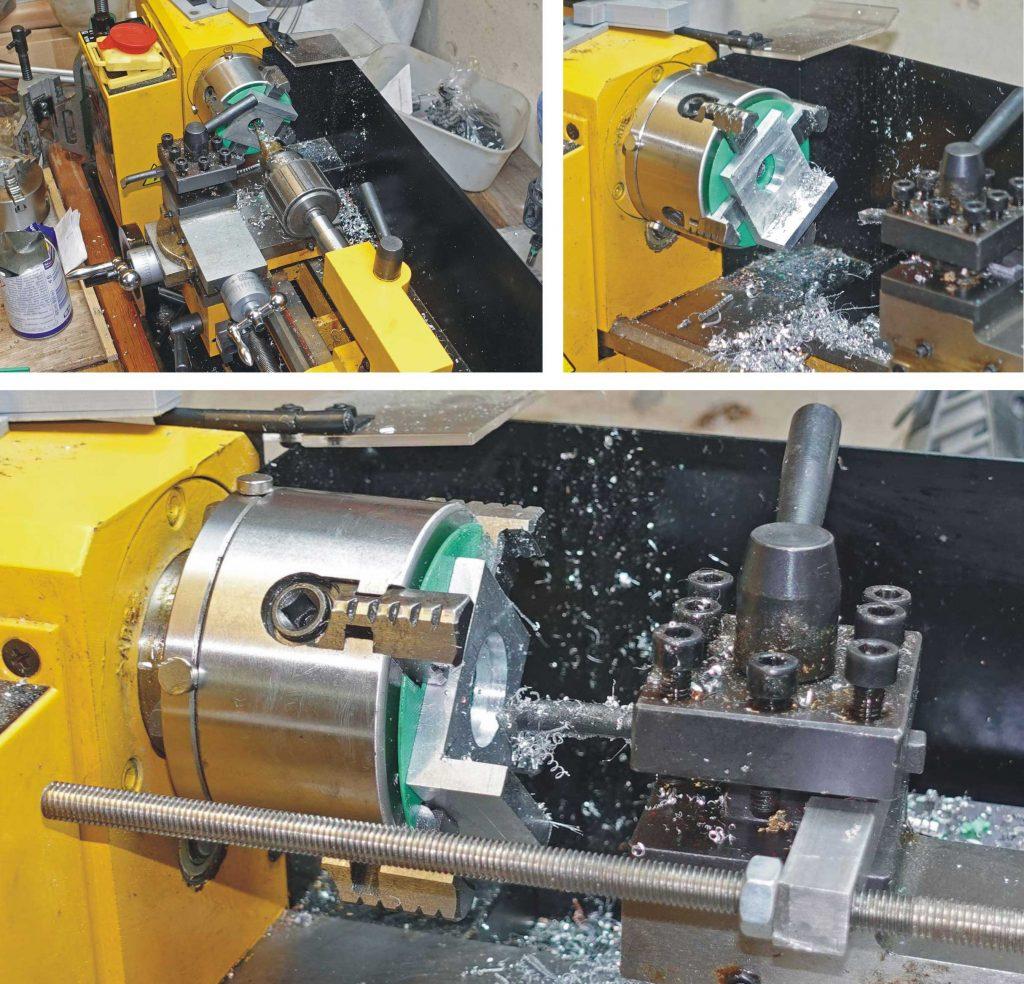 Constructing laser cutter lens bracket