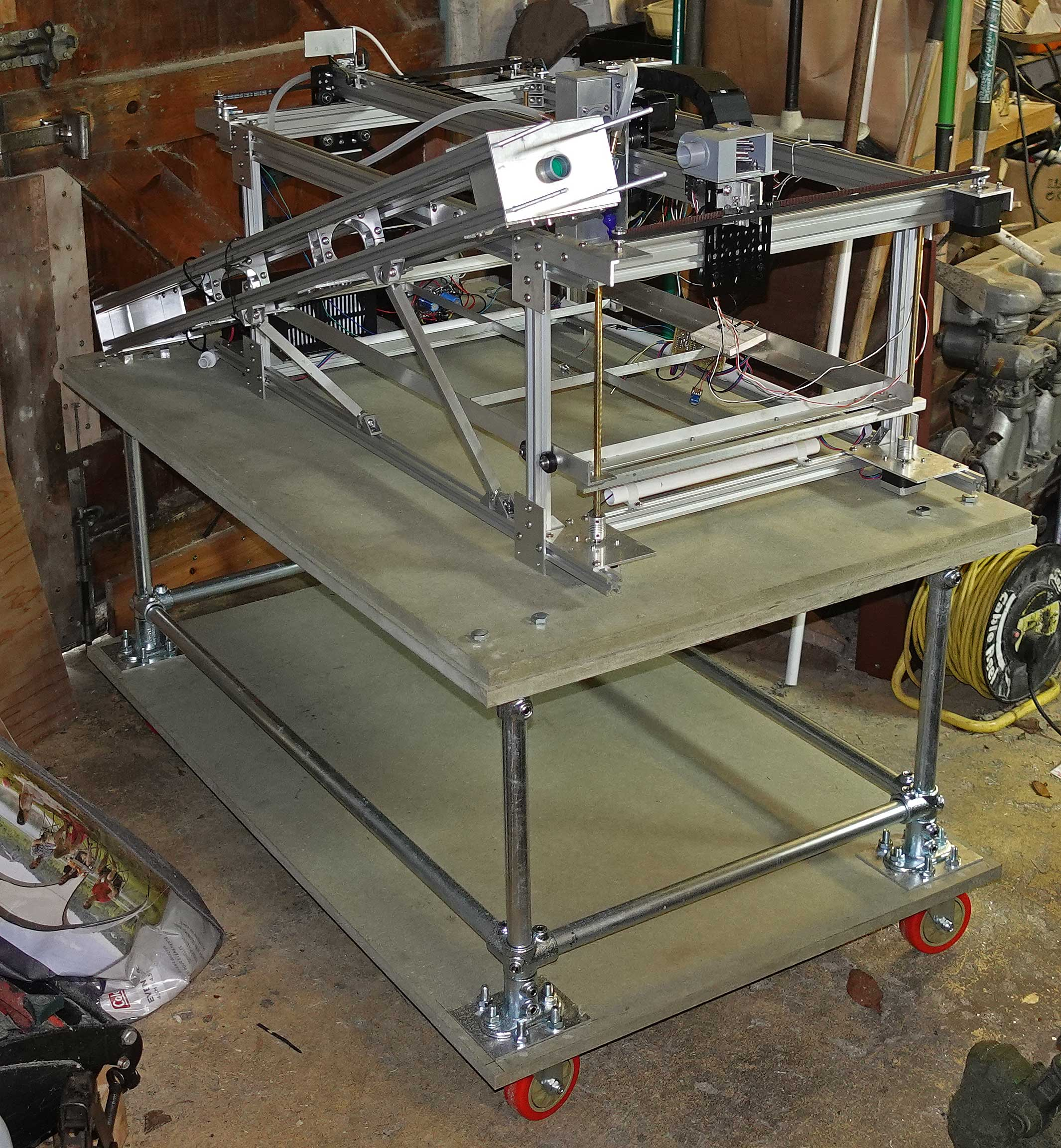 Laser cutter - test fitting on base