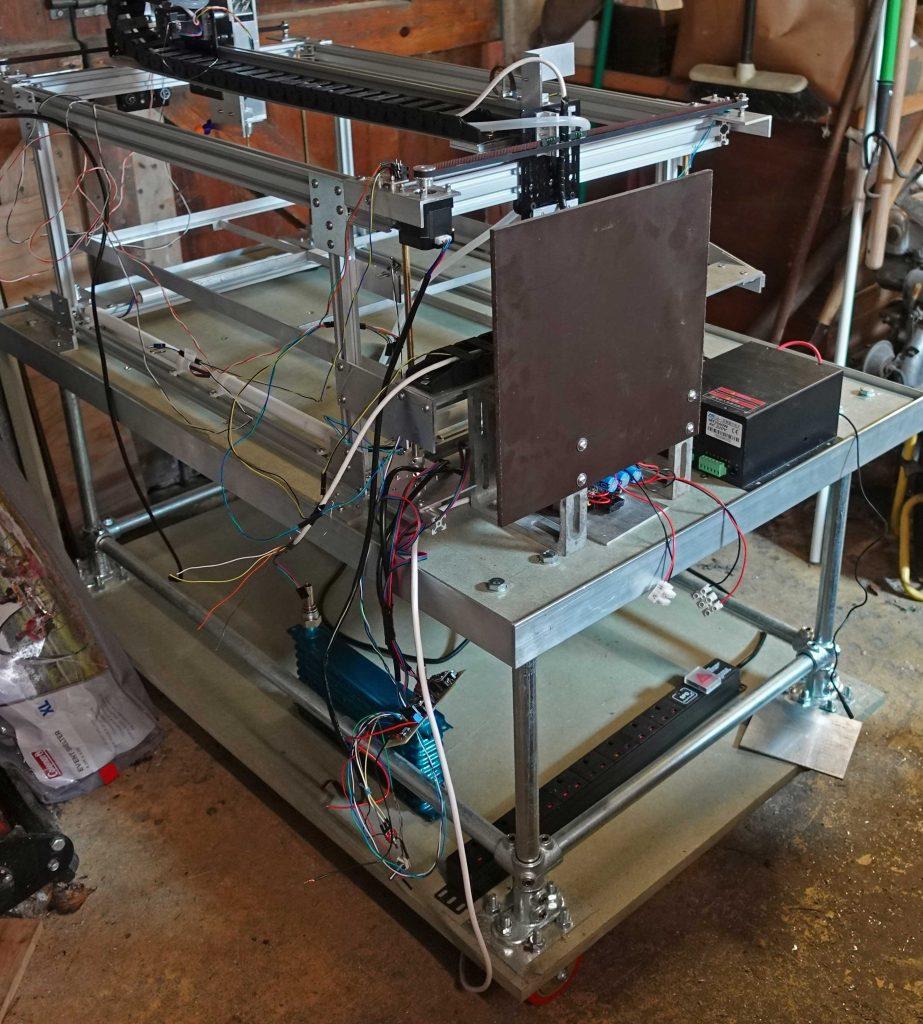 Laser cutter - electronics panel