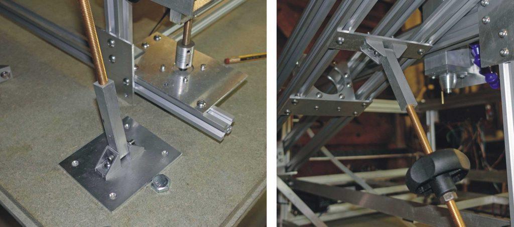 Laser cutter, laser cradle front adjustment.