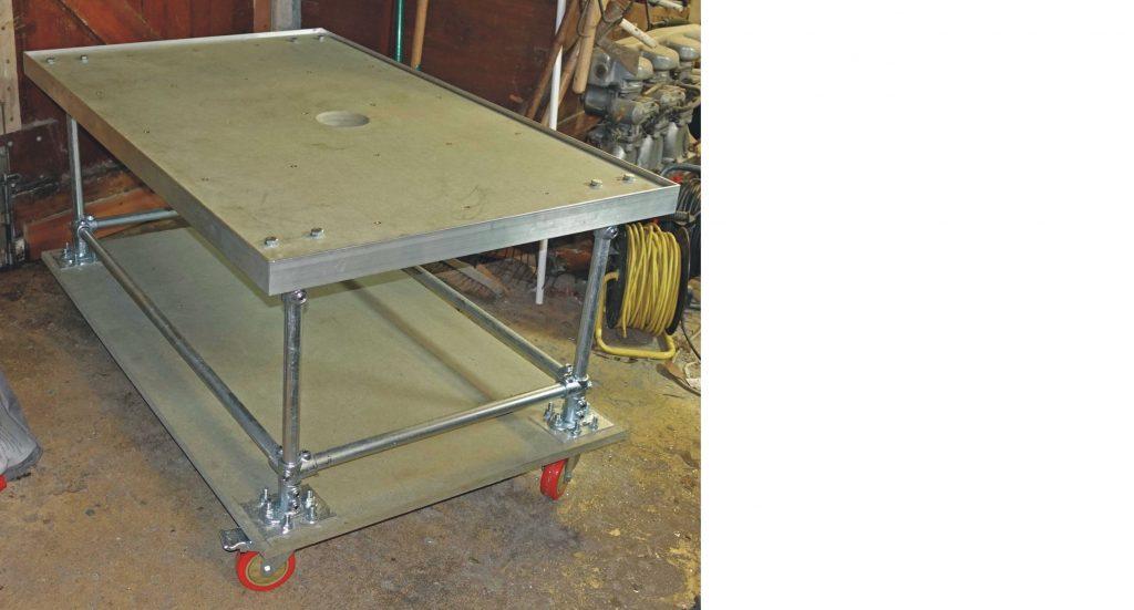 laser cutter base with aluminium edging