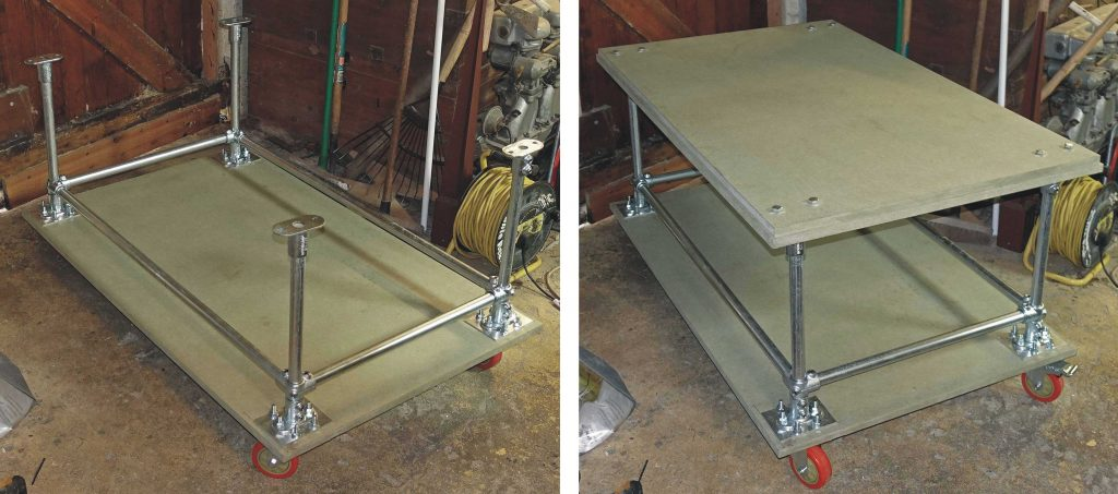 Laser cutter bench in progress