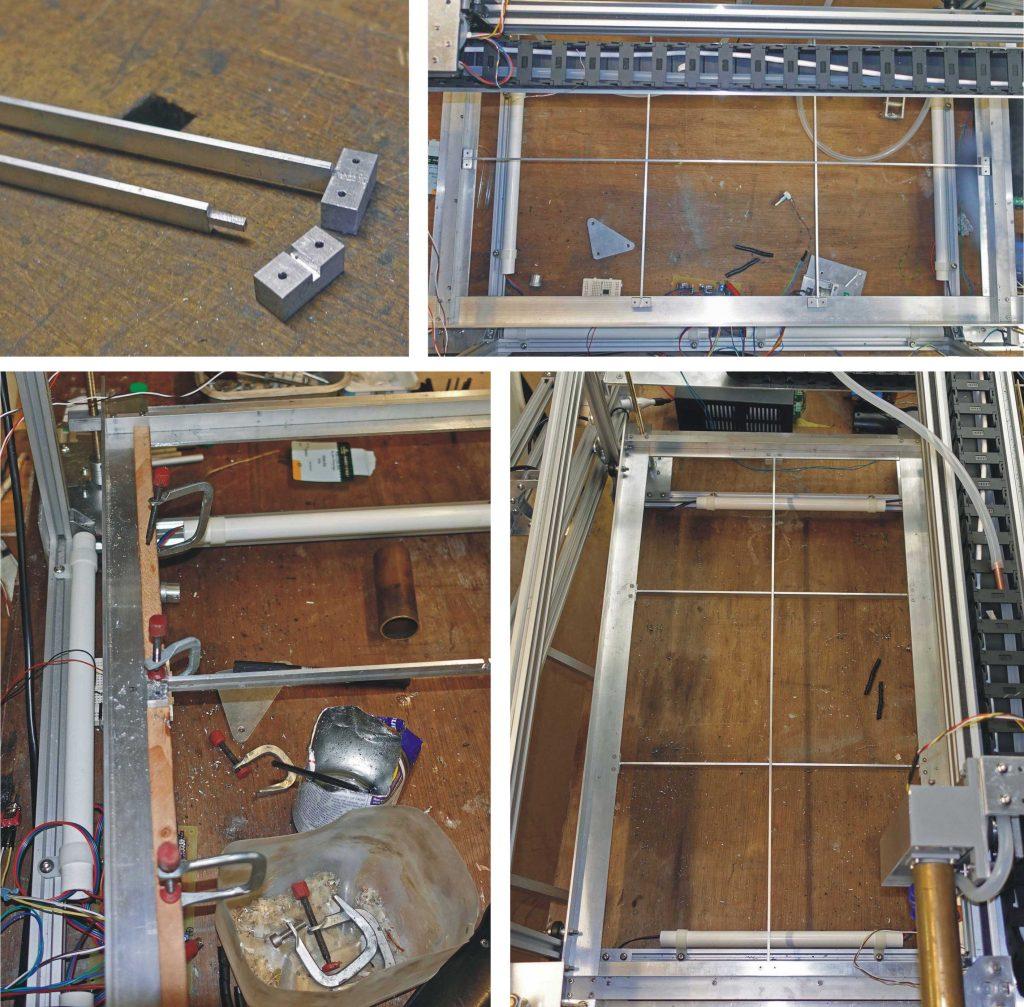 Laser cutter bed grid details