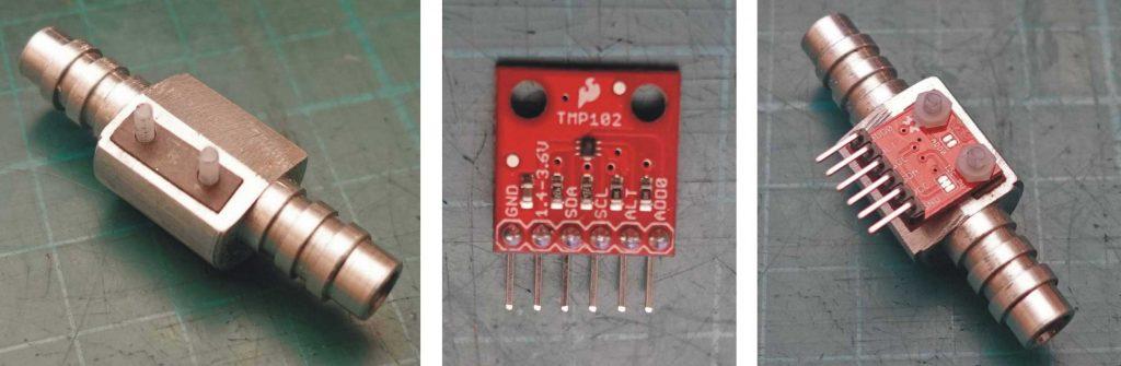 Laser cutter cooling water heat sensor.
