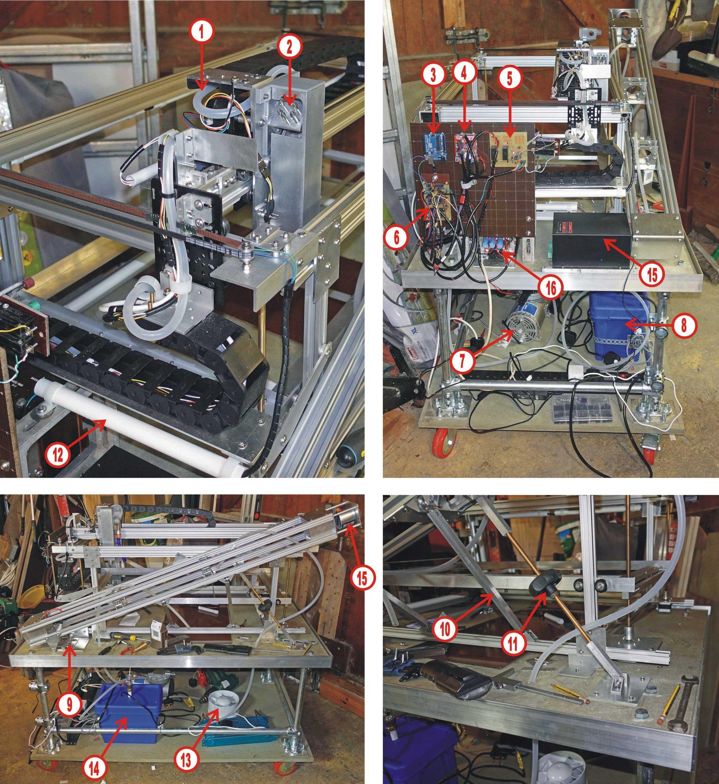 Laser cutter, progress on construction