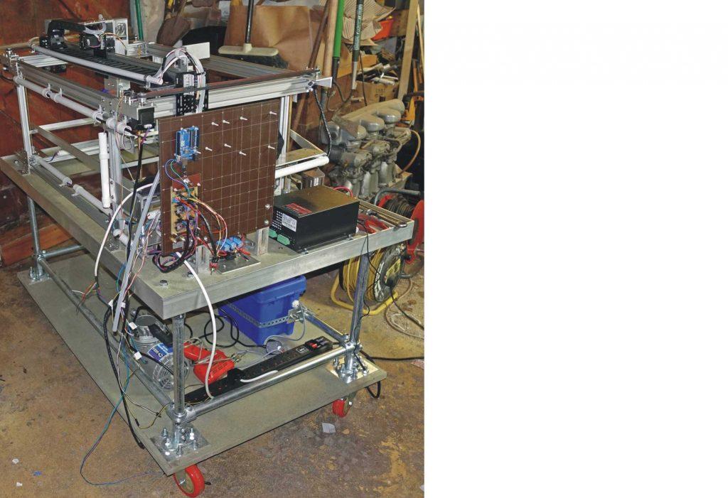 Laser wiring up progress